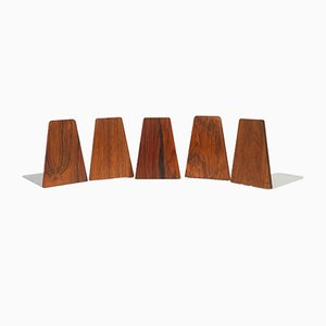 Mid-Century Rosewood Bookends from Feldballes Møbelfabrik, 1960s, Set of 5