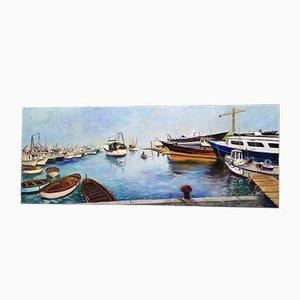 Vintage Gemälde von William Senigalliesi