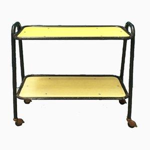 Mid-Century Italian Modern Yellow Laminate Bar Trolley On Wheels, 1960s