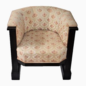 Antique Art Nouveau Viennese Club Chair by Josef Hoffmann