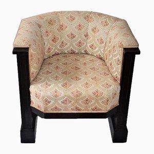 Club chair Art Nouveau antica viennese di Josef Hoffmann