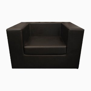 Black Throw-Away Club Chair by Willie Landels for Zanotta