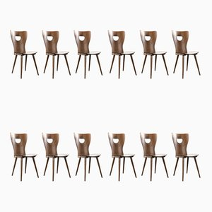 French Bentwood Desk Chairs from Joamin Baumann, 1950s, Set of 12