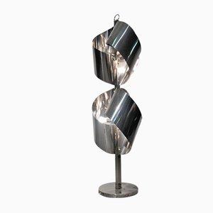 Lampada da terra in acciaio cromato di Goffredo Reggiani, anni '70