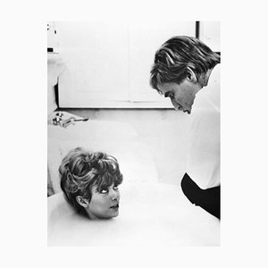 Marlon Brando and Rita Moreno Archival Pigment Print Framed in Black by Bettmann