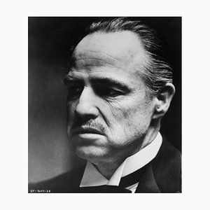 Don Vito Corleone Archival Pigment Print Framed in Black by Bettmann