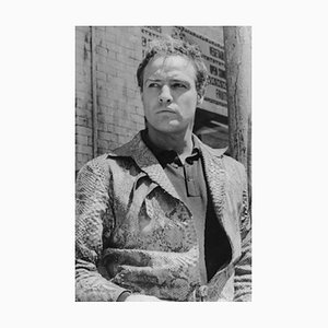 Marlon Brando Archival Pigment Print Framed in White by Bettmann