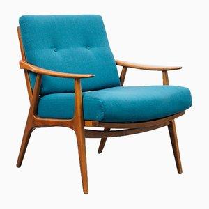 Walnut Filigree Armchair, 1960s