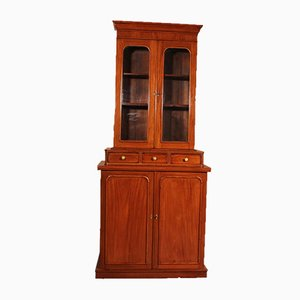 English 19th Century Glazed Bookcase In Light Mahogany