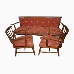 Bank & Sessel von Praun Anna Lülja für Haus & Garten, 1950er, 3er Set