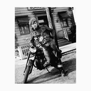 The Wild One Archival Pigment Print Framed in Black by Bettmann