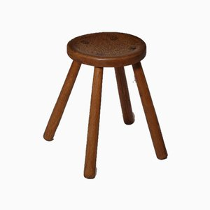 Mid-Century French Oak Stool
