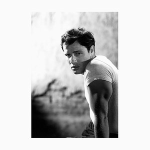 Marlon Brando Archivdruck in Weiß