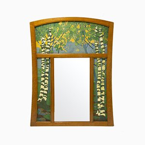 Antique Pier Mirror by Gustave Serrurier-Bovy