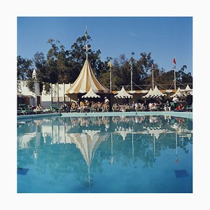 Beverly Hills Hotel Oversize C Print Framed in White by Slim Aarons