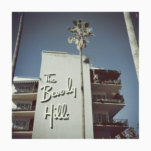 Beverly Hills Hotel Oversize C Print Framed in Black by Slim Aarons