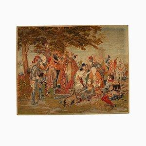 Antiker Handgenähter Gite Tapisserie