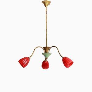 Mid-Century TreFiori Murano Tulips Ceiling Lamp