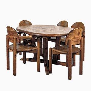 Dänischer Esstisch & Stühle Set von Rainer Daumiller für Mitglied des Verbandes der dänischen Möbelindustrie, 1970er, 6er Set