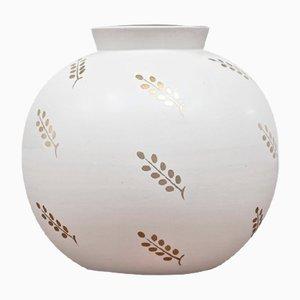 Schwedische Carrara Vase von Wilhelm Kåge für Gustavsberg, 1940er