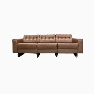 Swiss Leather DS-40 Sofa from de Sede, 1970s