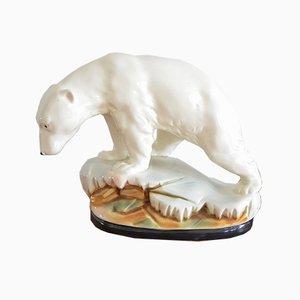 Orso polare Art Déco in ceramica, anni '30