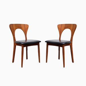 Model Peter Teak Dining Chairs by Niels Koefoed for Koefoeds Hornslet, 1960s, Set of 2