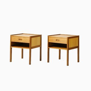 Scandinavian Teak Nightstands, 1950s, Set of 2