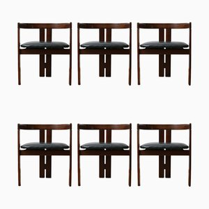 Pigreco Dining Chairs by Tobia & Afra Scarpa, 1950s, Set of 6