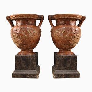 Italienische Vasen aus Terrakotta, 1920er, 2er Set