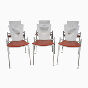 Esszimmerstühle von Ronald Cecil Sportes für Tecno Varedo, 1980er, 6er Set