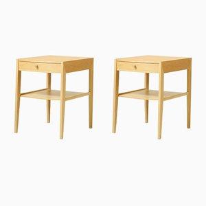 Scandinavian Bedside Tables with Oak Drawer, 1960s, Set of 2