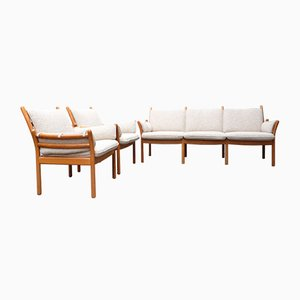 Genius Living Room Set by Illum Wikkelsø for CFC Silkeborg, 1960s, Set of 3