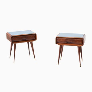 Italian Sculptural Nightstands, 1950s, Set of 2