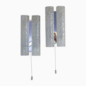 Mid-Century Wandlampen mit Glasröhren von Doria Leuchten, 2er Set