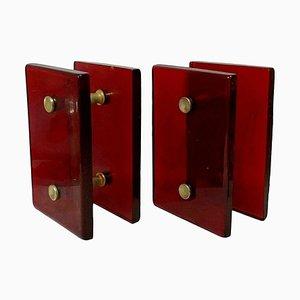 Murano Glass Door Handles, 1960s, Set of 2
