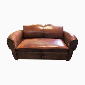 Art Deco Convertible Club Sofa