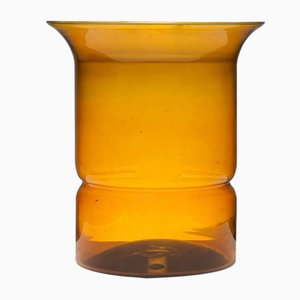 Large Amber Glass Vase