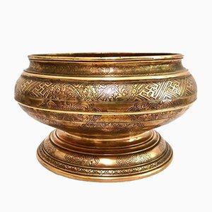 Antique Art Nouveau Brass Bowl