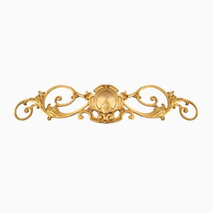 Antique Gold-Plated and Cast Brass Wall Application