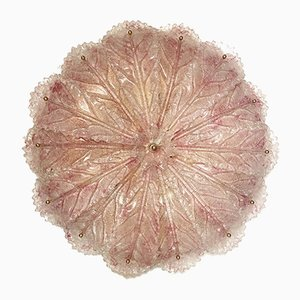 Large Blossom Pink Murano Glass Flush Mount