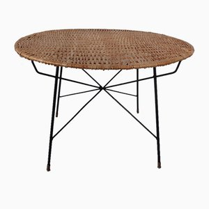 Italian String Basket Coffee Table, 1950s