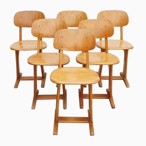Modernist Desk Chairs by Carl Sasse for Casala, 1960s, Set of 6