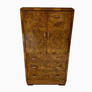 Art Deco Walnut Linen Press