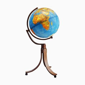 Illuminated Earth Globe Geoscope by Ricoscope Firenze for Ricoscope Firenze, 1981