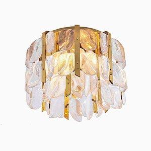Lampada da soffitto Florida in ottone e vetro di JT Kalmar per Kalmar, anni '60