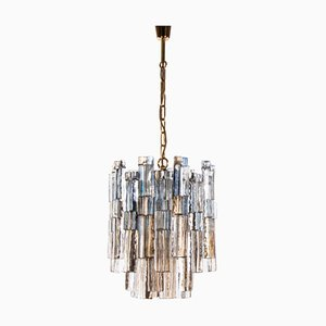 Amber and Blue Murano Glass Chandelier by J. T. Kalmar for Kalmar, 1960s