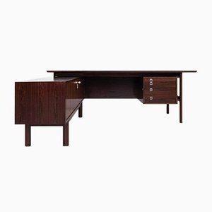 Mid-Century Danish Executive Desk in Rosewood by Arne Vodder for Sibast, 1960s
