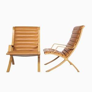 Dänische Mid-Century AX Stühle von Hvidt & Molgaard für Fritz Hansen, 2er Set