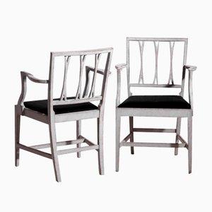 Antike Schwedische Rosshaar Esszimmerstühle, 12er Set